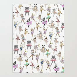 Animal Ballet Hipsters LV Poster