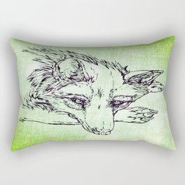 NV: Keer: green Rectangular Pillow