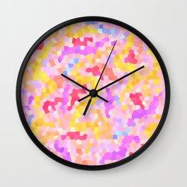 string theory mosaic Wall Clock