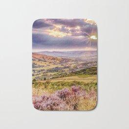 Scenic view of Hope valley, Peak District, U.K. Bath Mat