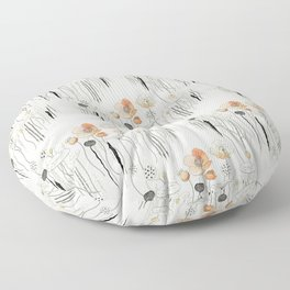 Coral Watercress Pond Floor Pillow