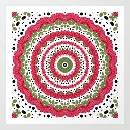 Rosy dreams. Kaleidoscope. Art Print