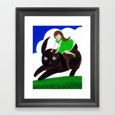 Rabbit Girl Framed Art Print