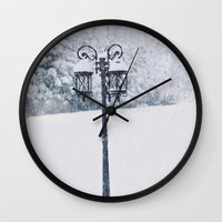 narnia Wall Clocks featuring Welcome to Narnia by Angela Stansell Photography