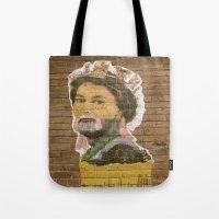jenny liz rome Tote Bags featuring Liz by Teresa Gabry