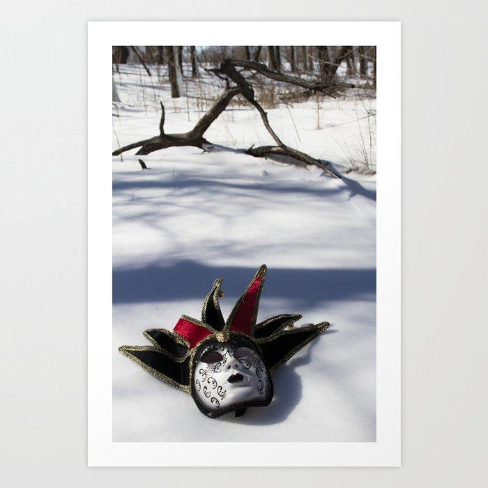 Ice Masked Art Print