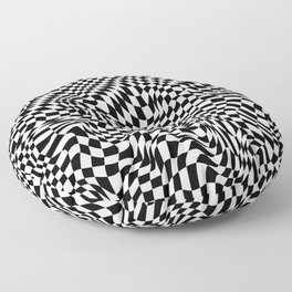 TIME MOVES SLOWLY (warped geometric pattern) Floor Pillow