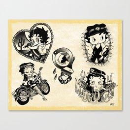 Biker Betty Boop Canvas Print