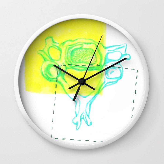 4th Cervical Vertebra Wall Clock by raliz | Society6