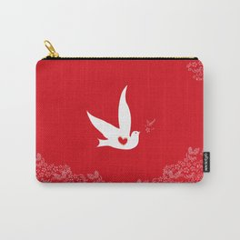 Love and Freedom - Red Carry-All Pouch