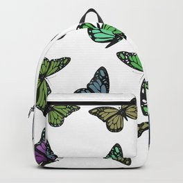 Multi Colored Butterfly Pattern Backpack