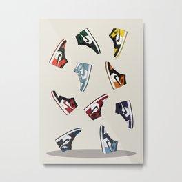 Falling Jordans Metal Print