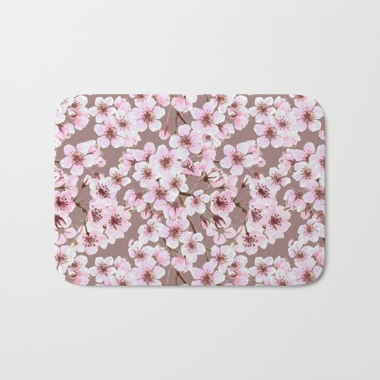 Cherry blossom pattern Bath Mat