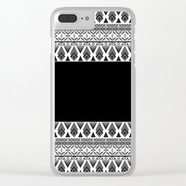Black and white patchwork .2 Clear iPhone Case