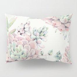 Pink Echeveria Light Green #society6 #buyart Pillow Sham