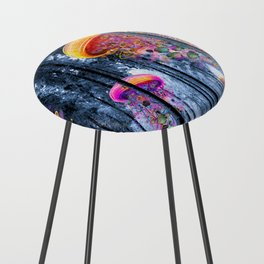 Winter Forest of Electric Jellyfish Worlds Counter Stool