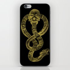 The Dark Mark in Gold iPhone & iPod Skin