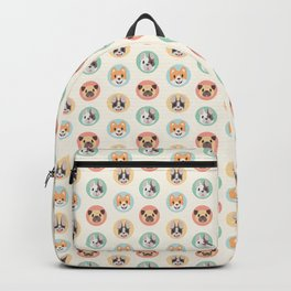 Circle Pup Pattern Backpack