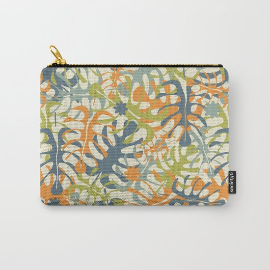 Summer tropical leaves Carry-All Pouch