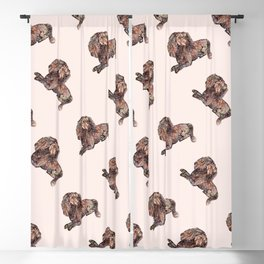 Dog Pattern 2 on Girly Pink Blackout Curtain