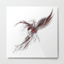 Fractal Phoenix Metal Print