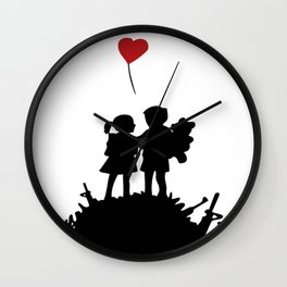 war is over banksy Wall Clock