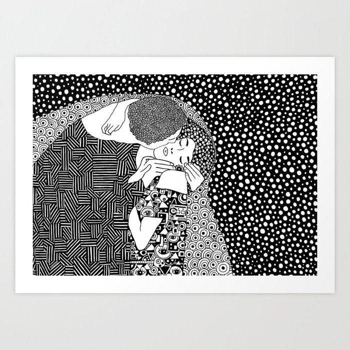 Gustav Klimt - The kiss Art Print