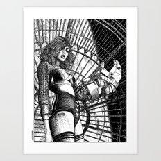asc 325 - La dame de voyage II (The starship escort girl II) Art Print