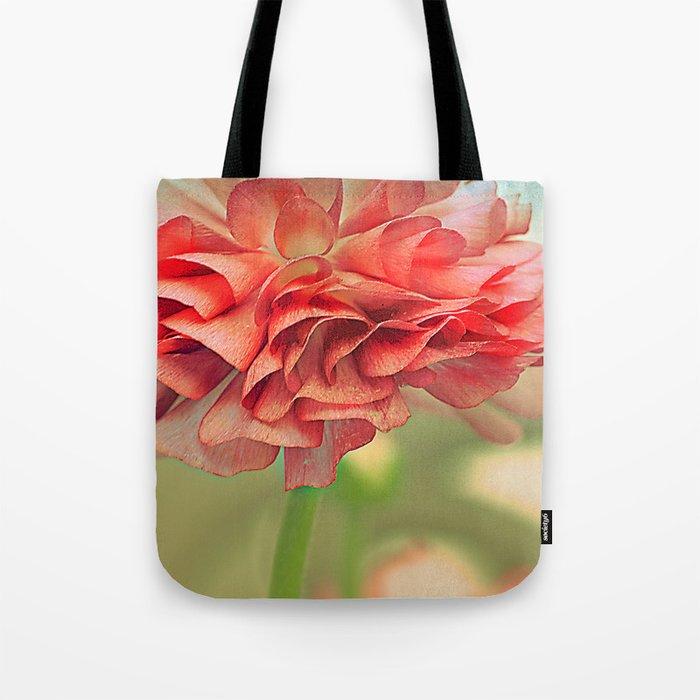 Vintage Ranunculus (4) Tote Bag