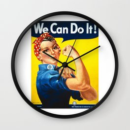 We can do it!, vintage poster, classic poster Wall Clock