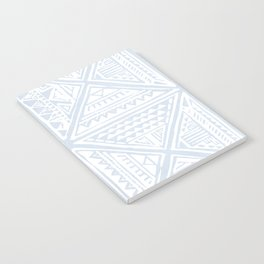 Simply Tribal Tile in Sky Blue on Lunar Gray Notebook