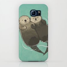Significant Otters - Otters Holding Hands Galaxy S6 Slim Case