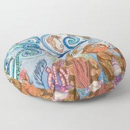 Ocean Zentangle Floor Pillow