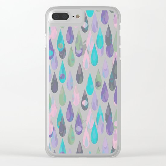 Let it Rain IV Clear iPhone Case