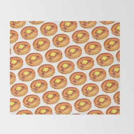 Pancakes Pattern Throw Blanket