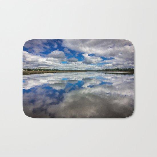 Clouds Reflected Bath Mat