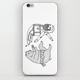 On the bear's uncontrollable urge to toss his master in the air iPhone Skin