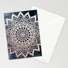 BLUE BOHO NIGHTS MANDALA Stationery Cards
