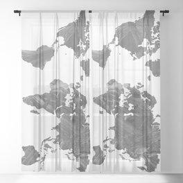 MAP-B&W Freedom vibes worldwide Sheer Curtain