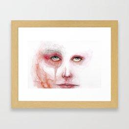 Redness Blurs the Eyes Framed Art Print