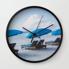 Mornings at the Beach II Wall Clock