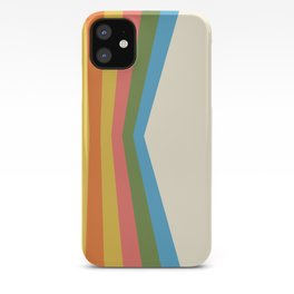 Retro Rainbow Reflection iPhone Case