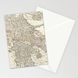 Vintage Map of Greece (1794)  Stationery Cards