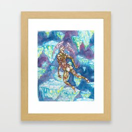 Icarus Surpasses the Sun Framed Art Print