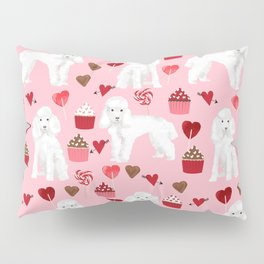 Toy poodle white poodles valentines day cupcakes love hearts dog breed pet portrait pattern gifts pe Pillow Sham