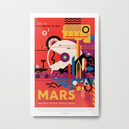 NASA Visions of the Future - Mars Tours Metal Print