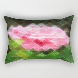 Pink Roses in Anzures 3 Art Triangles 2 Rectangular Pillow