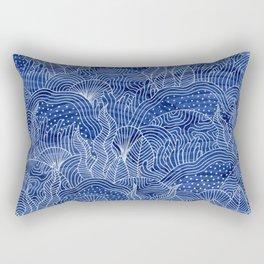 Coral Reef - Indigo Rectangular Pillow