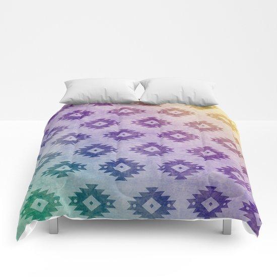 Aztec Pattern 06 Comforters