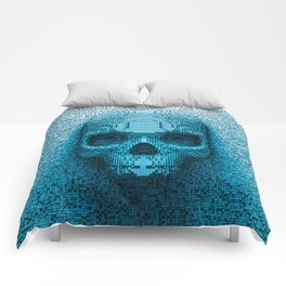 Pixel skull Comforters